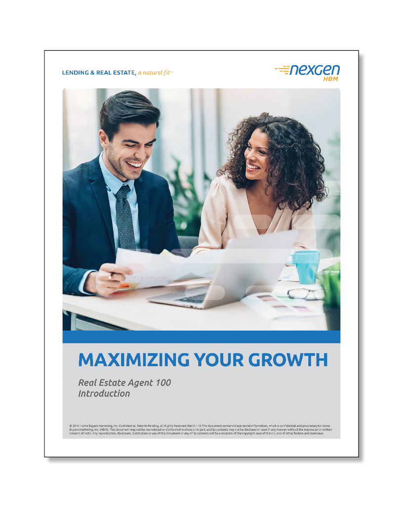AGT 100: Maximizing Your Growth   (60 minutes)     ALL TIMES CENTRAL  • Define your business opportunity • Identify how current home buying trends affect your business • Learn how Nexgen's business plan can grow/protect your business   CLICK TO REGISTER    DOWNLOAD PARTICIPANT WORKBOOK