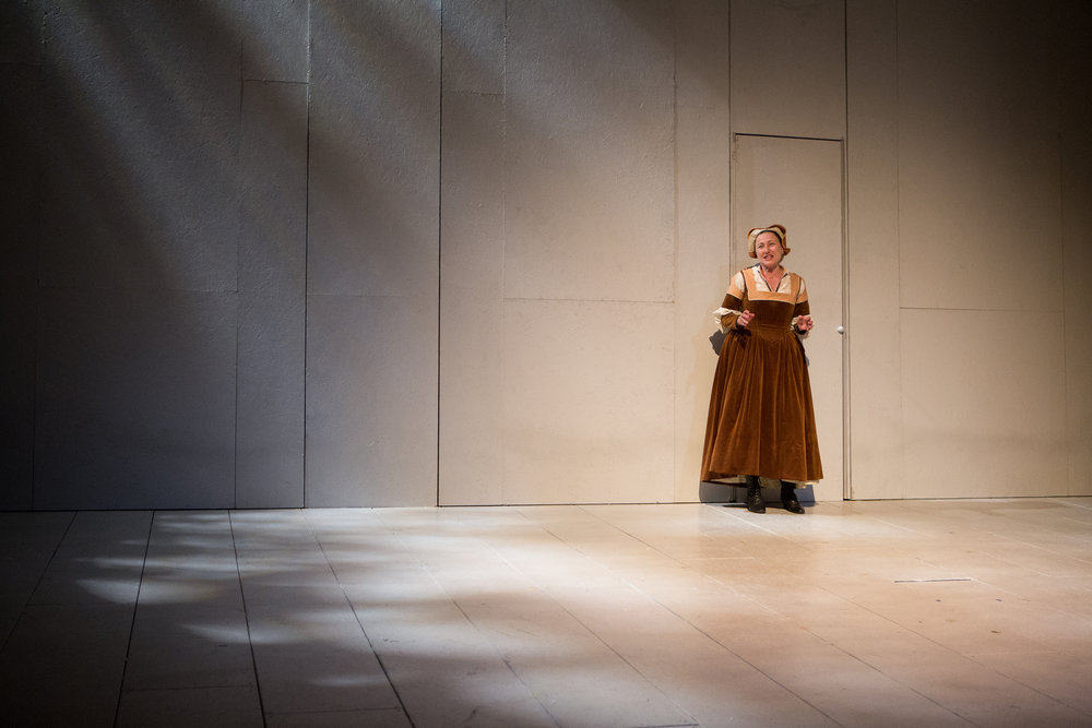 Valerie Buhagiar in  Botticelli in the Fire  (Canadian Stage). Photo by Cylla von Tiedemann