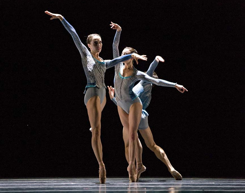 Courtney Wright and Joanna Mednick in  Concordia ( San Francisco Ballet). Photo by Erik Tomasson