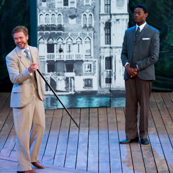 Kyle Golemba and Christopher Allen in The Comedy of Errors (Canadian Stage - Shakespeare in High Park). Photo by Lyon Smith