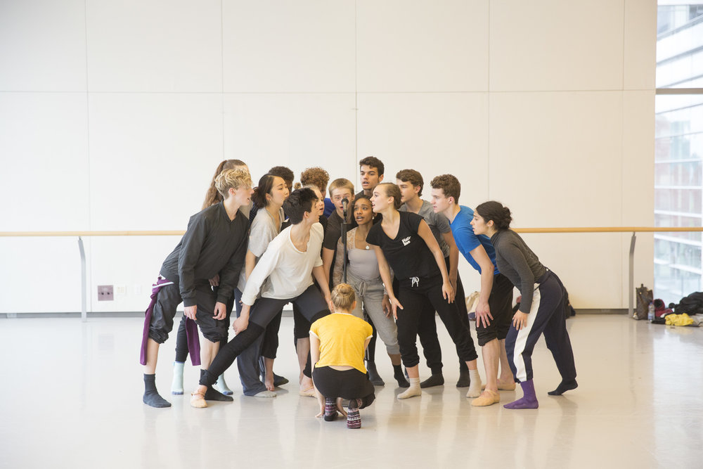 In rehearsal for  I Wonder -  AI17 - Canada's National Ballet School. Photo by  Aleksandar Antonijevic .