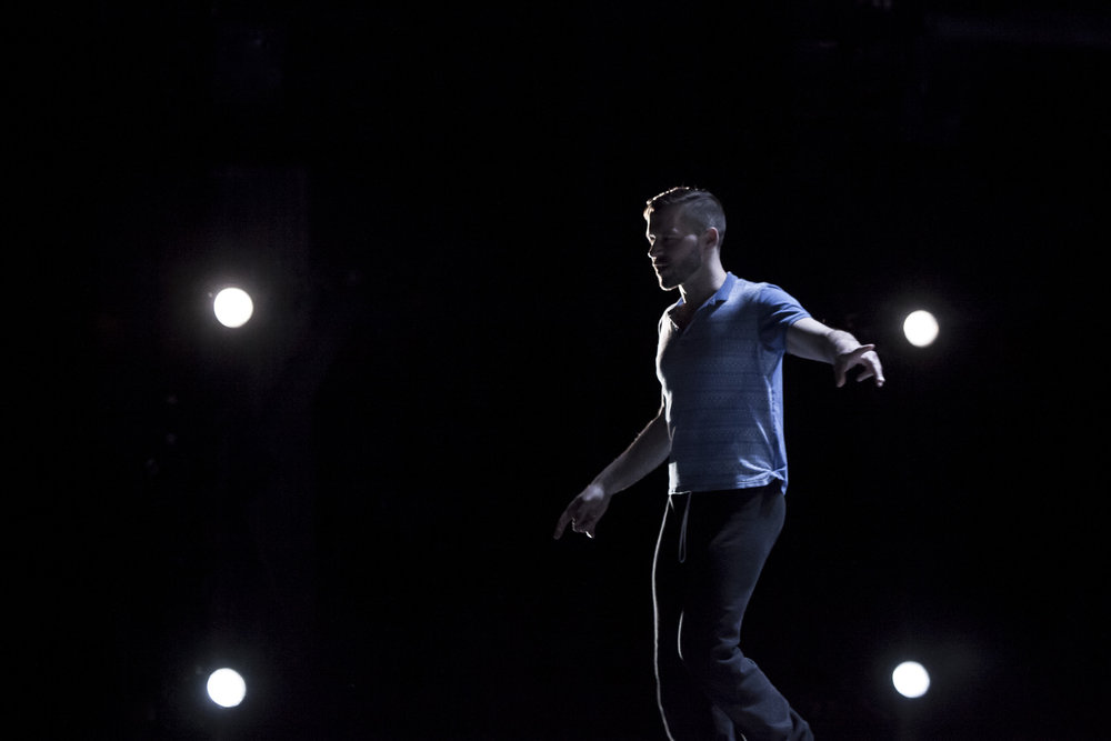 On stage, during tech rehearsal for  I Wonder  (Canada's National Ballet School). Photo by  Aleksandar Antonijevic