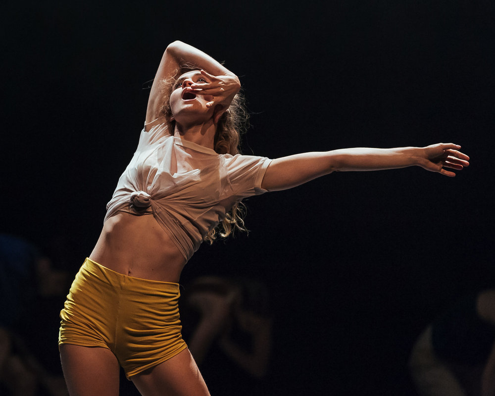 Heidi Lorenz in  The Night Dance  (Ryerson Dances 2017). Photo by  Jeremy Mimnagh