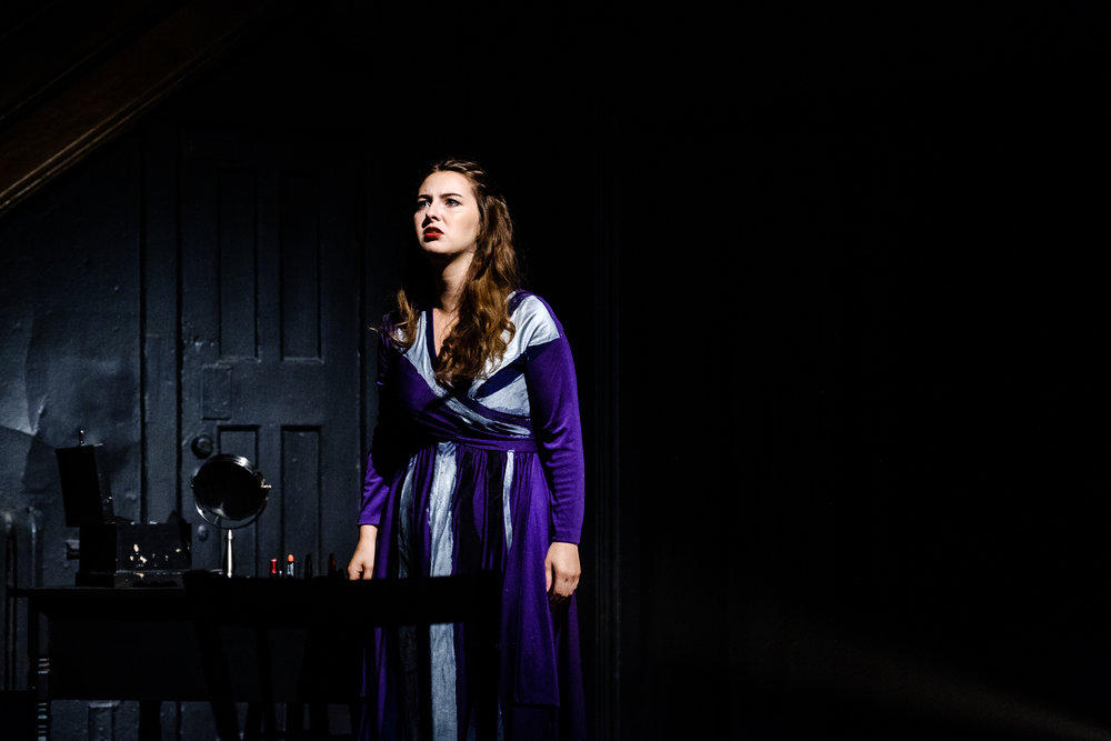 Abigail Carey in in Wounds to the Face (Randolph College for the Performing Arts). Photo by Raph Nogal