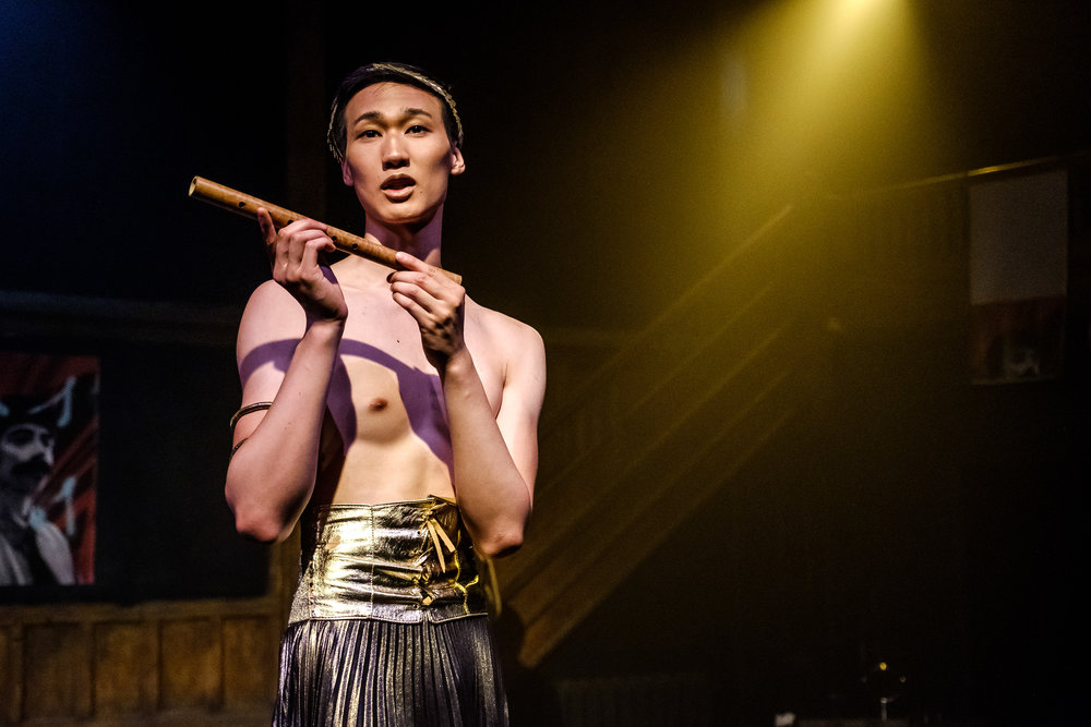 Arthur Yip in Wounds to the Face (Randolph College for the Performing Arts). Photo by Raph Nogal