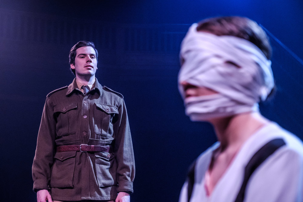 Justin P. Douglas and Talia Marina in Wounds to the Face (Randolph College for the Performing Arts). Photo by Raph Nogal