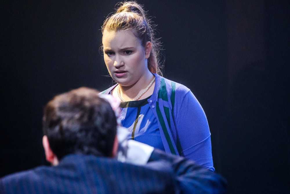 Rachel Fehr in Wounds to the Face (Randolph College for the Performing Arts). Photo by Raph Nogal