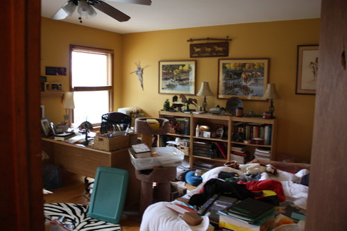 original office. Before - The Original Office In One Of Bedrooms. Not A True Shot