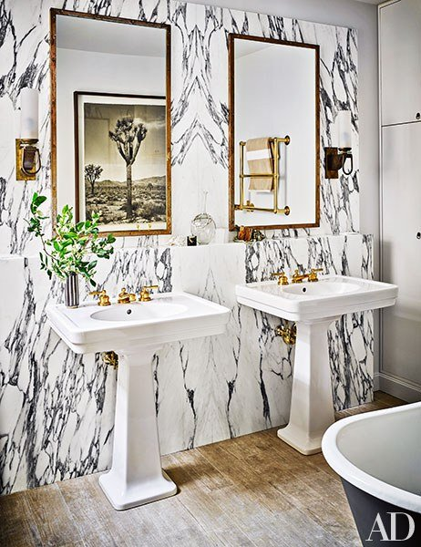 Nate Berkus' master bathroom via  Architectural Digest