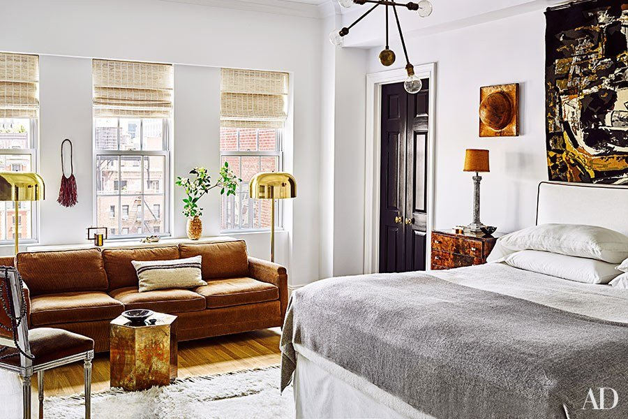 Master bedroom via  Architectural Digest