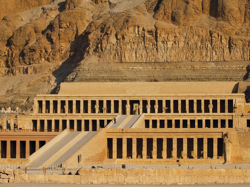 Temple of Hatshepsut. Photo via  Memphis Tours .