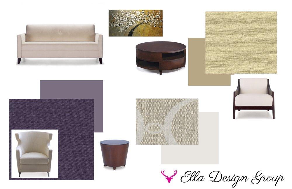 Design concept for a living room.