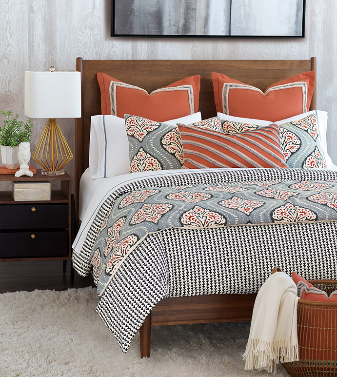 Luxury bedding by  Eastern Accents .