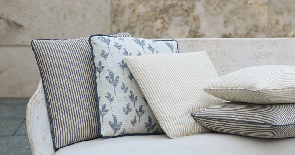 Via Perennials Fabric. Indoor/outdoor fabric from one of our to-the-trade vendors. It's soft to the touch but unbelievably durable.