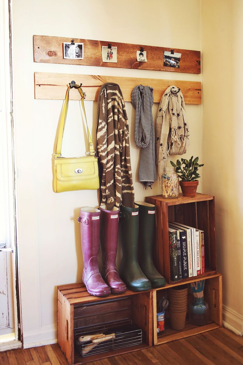 Clever, inexpensive storage via  A Beautiful Mess