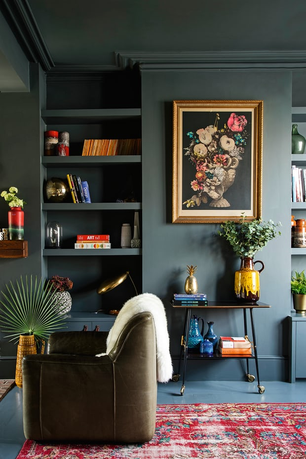 A one-of-a-kind, vintage area rug is a worthwhile splurge. Via   The Guardian  .