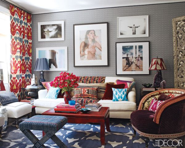 Sig Bergamin's NYC apartment via  Elle Decor .