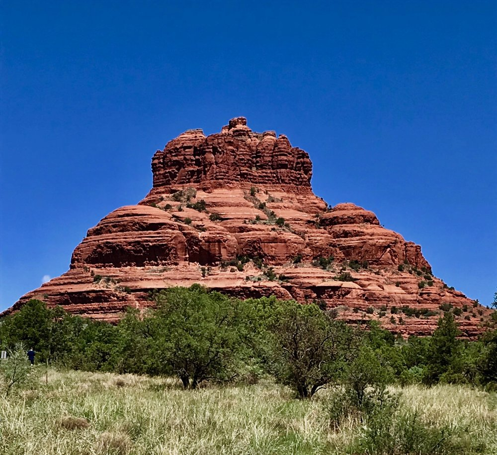 A photo of the gorgeous Cathedral Rock in Sedona, AZ that Iris took on her anniversary trip.