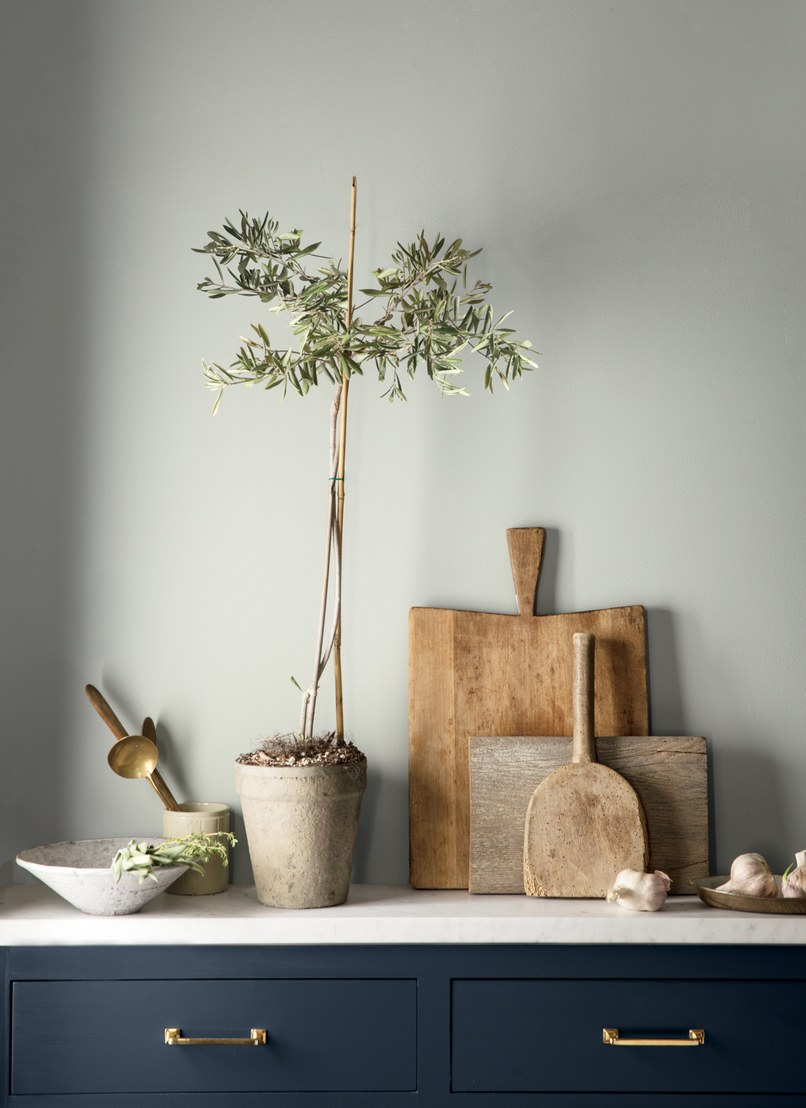 Use it to soften modern and rustic elements for a grounding effect. Via  Benjamin Moore .