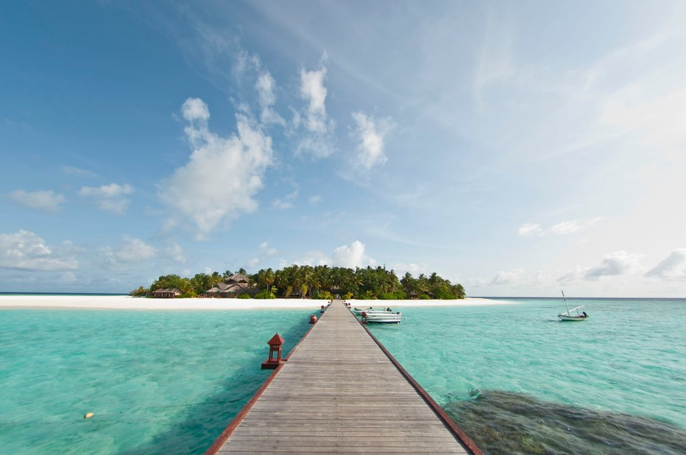 Take an hour and a half flight to the Maldives -