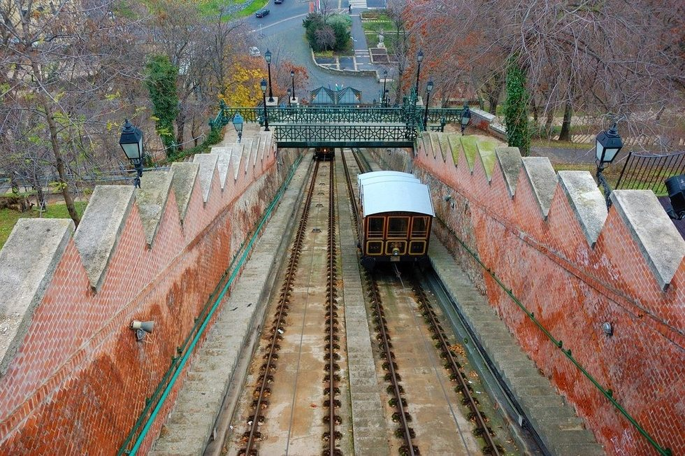Ride the Castle Hill Funicular connecting Buda and Pest -