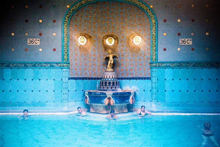 Go back in time and visit a thermal bath -