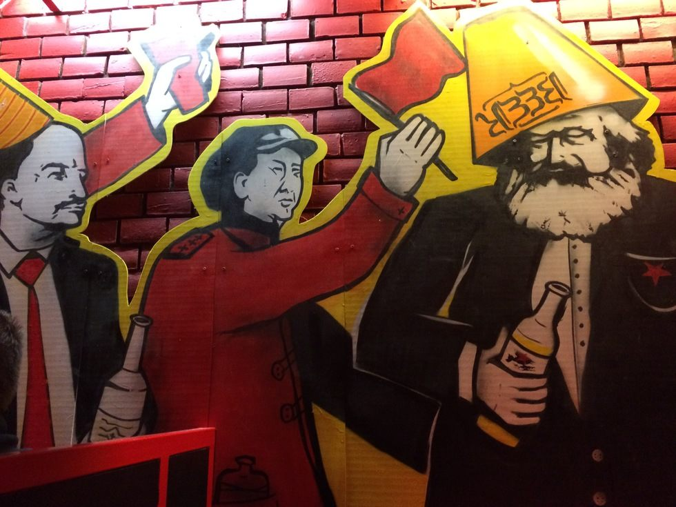 Poke fun at communism at the themed Red Ruin Bar -
