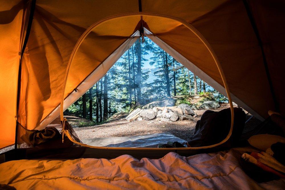 Camp in Moran State Park -