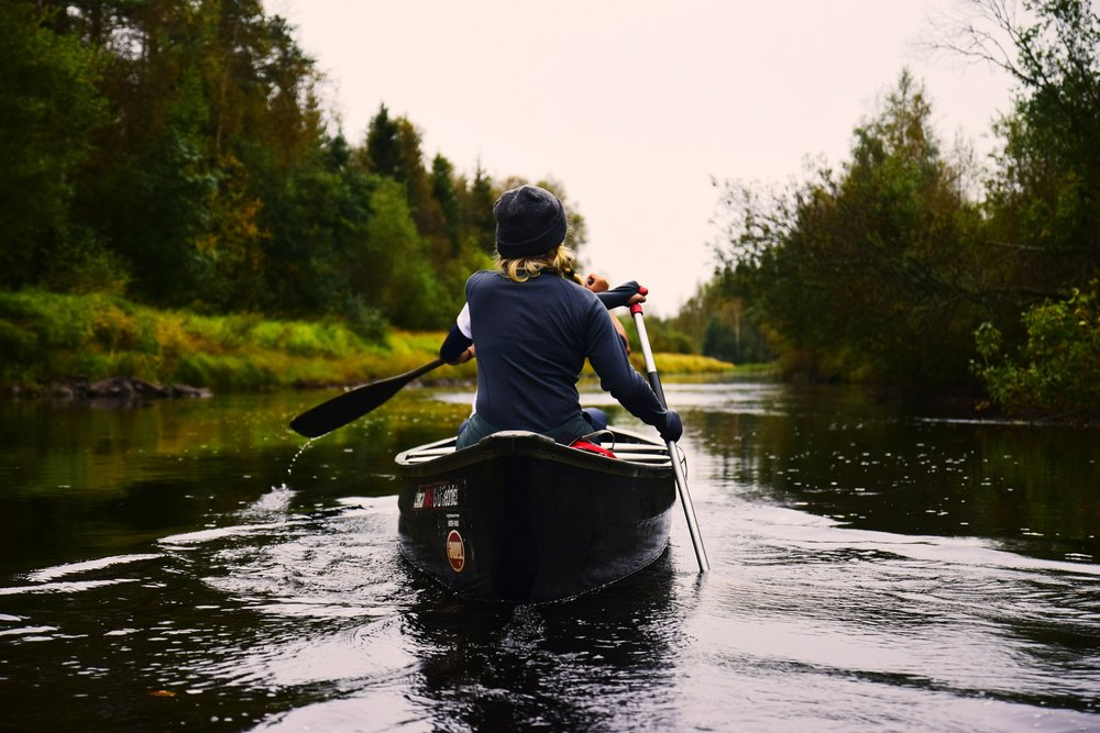 Kayak in the Clunie Loch -
