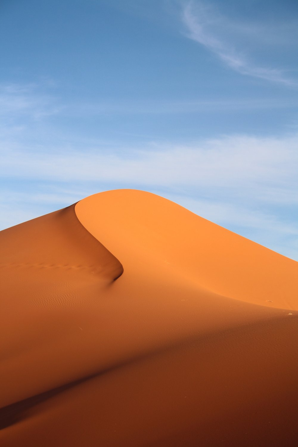 Walk on the sand seas  of Erg Chebbi -