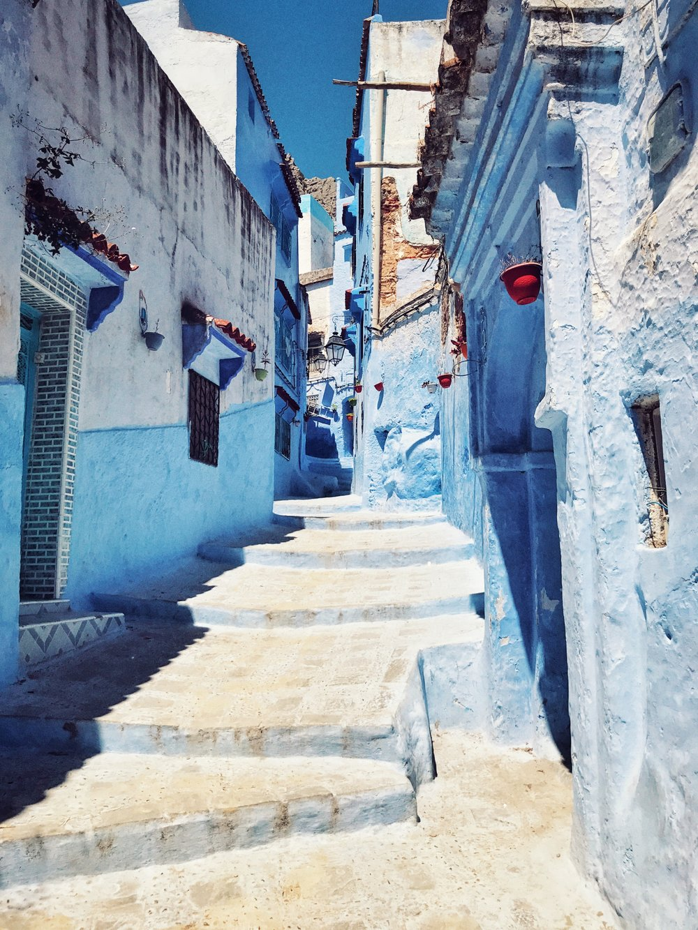 See the beautiful blue  of Chefchaouen -