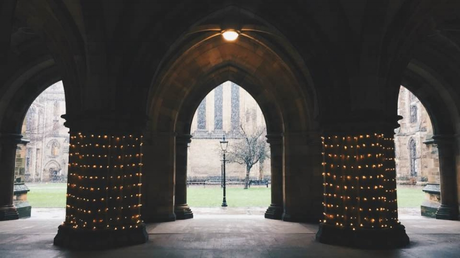 IT SEEMED NO MATTER THE WEATHER, THE UNIVERSITY OF GLASGOW WAS STILL BEAUITFUL.