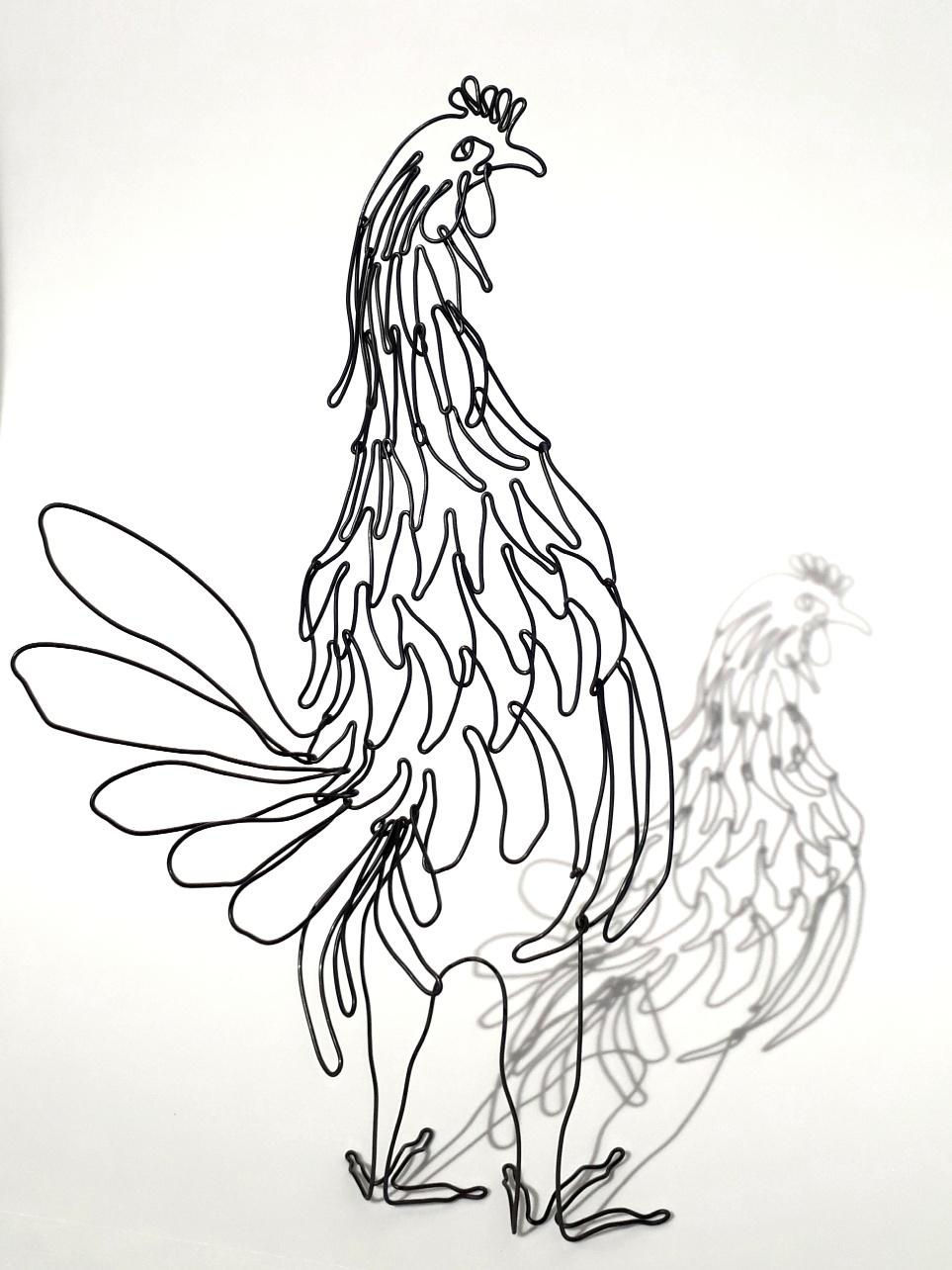 Chicken Wire Sculpture From Seven Seas Studio