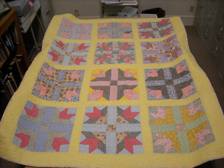 The winner of the antique quilt will be chosen!