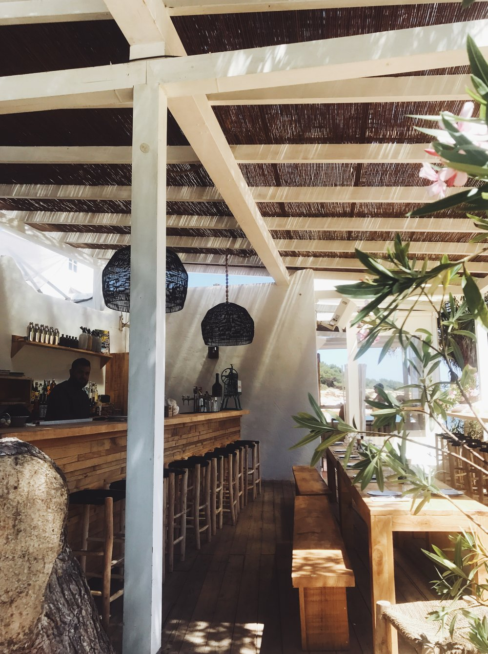 Bohemian design vibes at Cala Bonita's tapas bar