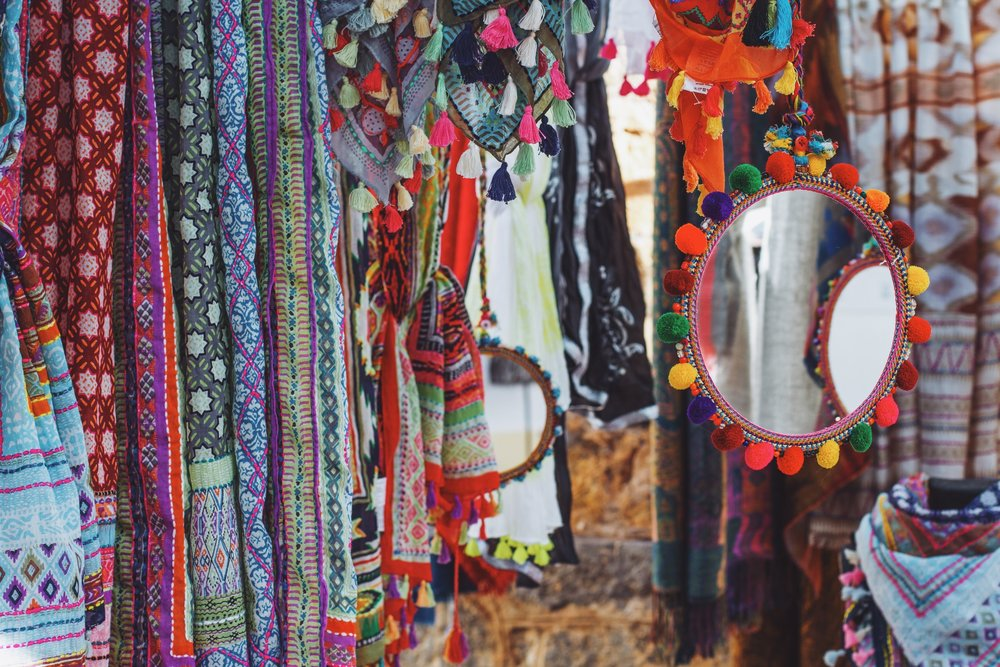 La vie Boheme |  Colorful hippy markets selling bright, bohemian decor, ensembles and accessories.