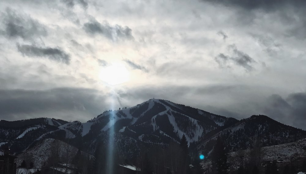 HELLO, BALDY |  BALD MOUNTAIN As seen from the sv lodgE. FEATURING OVER 70 RUNS - IT'S A SKI LOVERS MECCA.