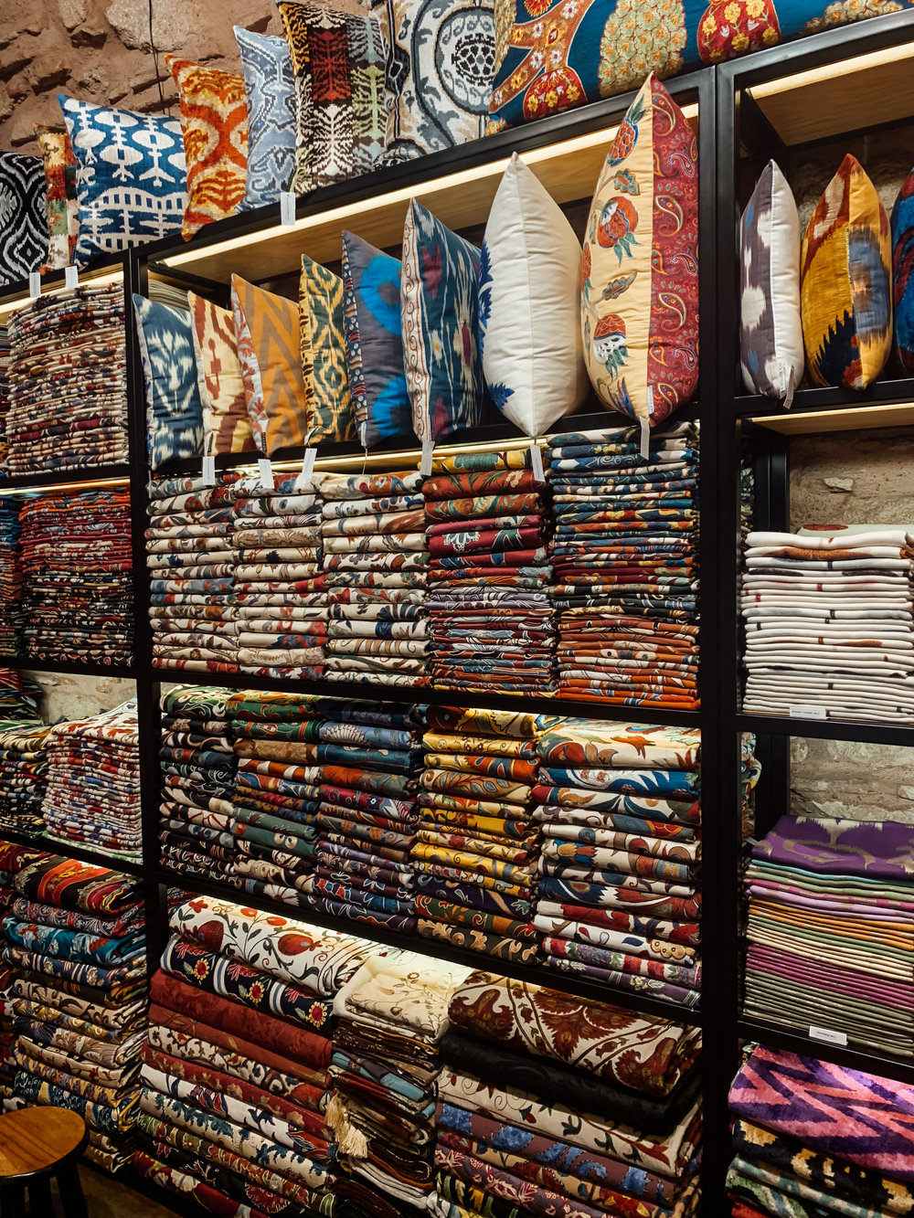 Mekhann sells amazing, high-quality pillows and textiles shop in the Grand Bazaar. They also have a store in Beyoglu.