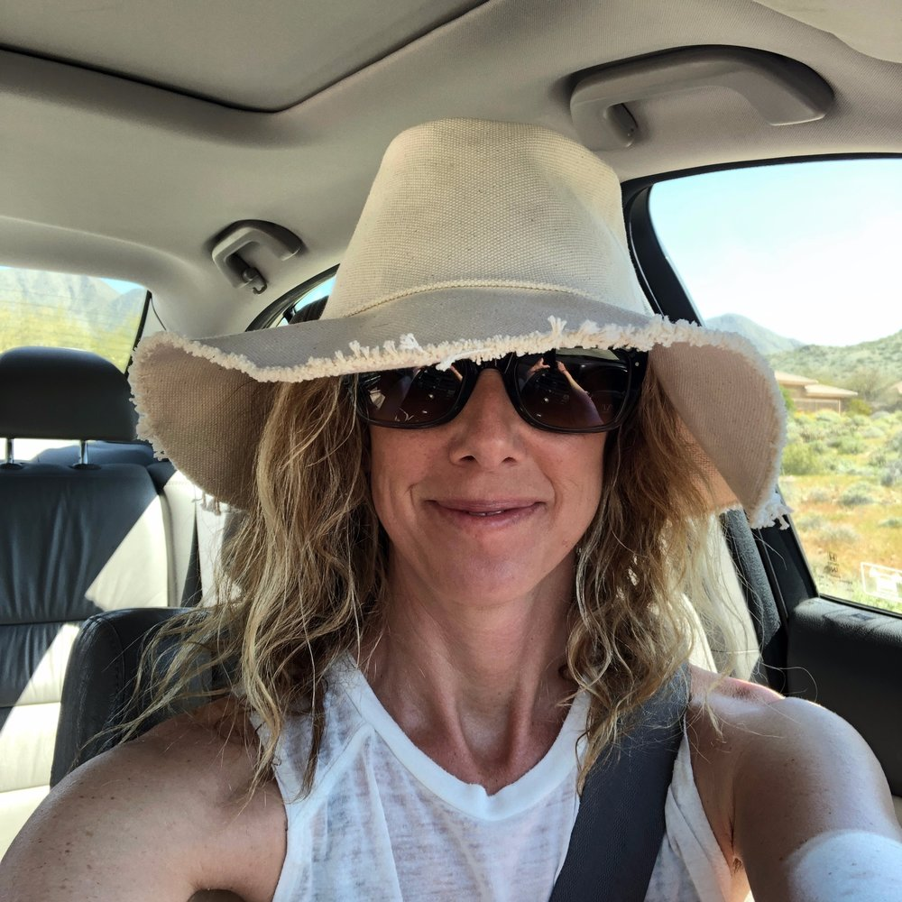 …love this hat I found last summer shopping with my girlfriends - it's chill, a little off center and just different enough to be unique - #wholeheartedchallenge, show me your style!