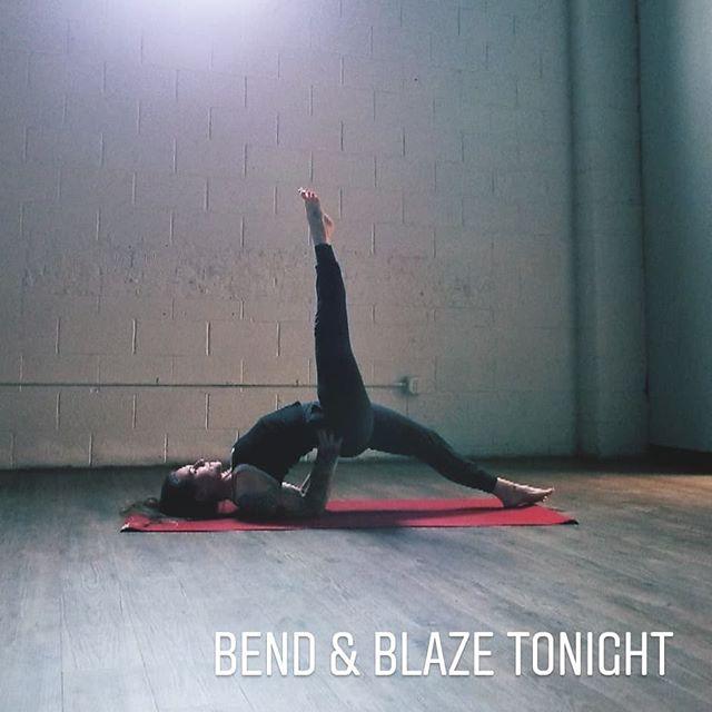 Join us tonight! . Bendandblazeyoga.com