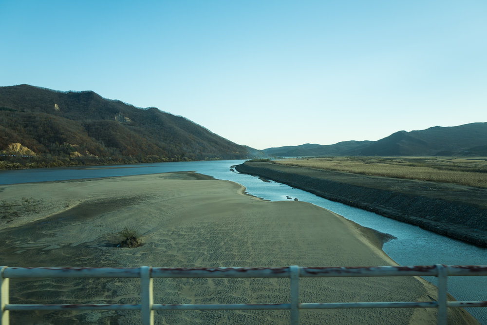 Last photo taken as we crossed the Yalu River into North Korea.