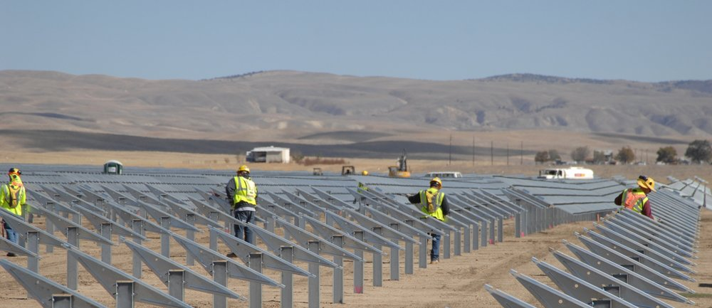 Installing the racking system for the solar array