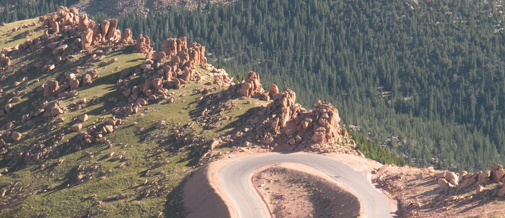Pikes Peak Highway on the PSI, location of the world famous annual Pikes Peak Hill Climb