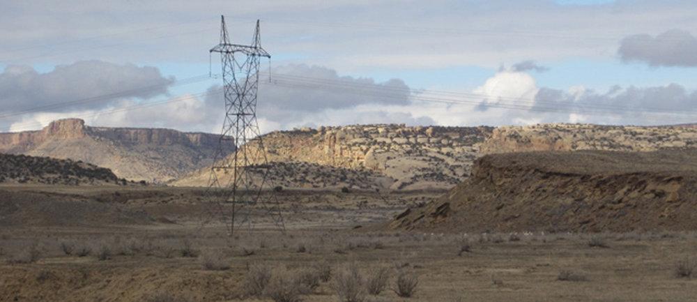 Western Area Power Administration 345-kV transmission line near Shiprock, NM