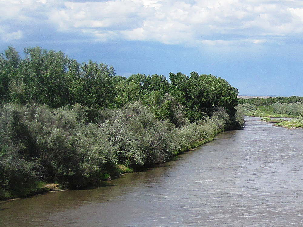 The Rio Grande from Otowi Bridge near San Ildefonso Pueblo, NM