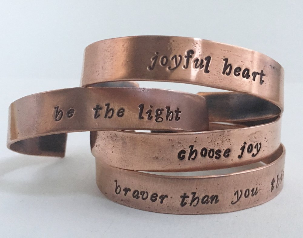 Simple Wealth. Recycled Copper Bangles
