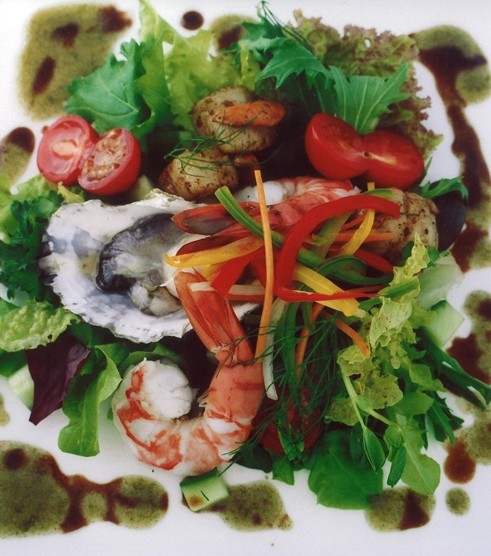 Seafood platter with Kelp Pepper