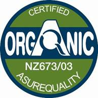 Asure Quality NZ Kelp Organic Certification logo