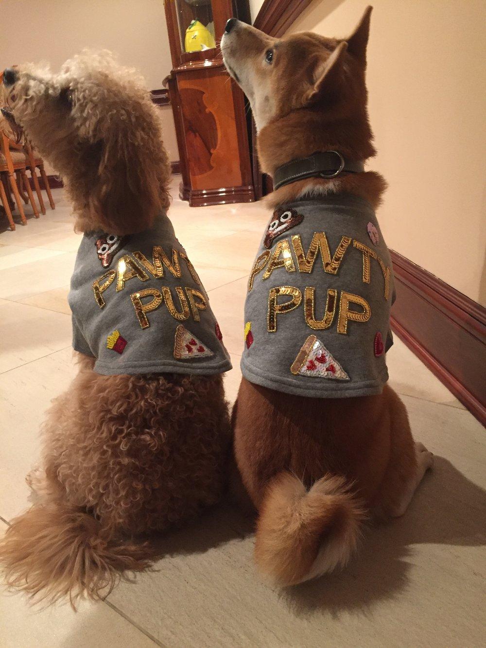 Bow and Drape Pet Sweatshirt; $39