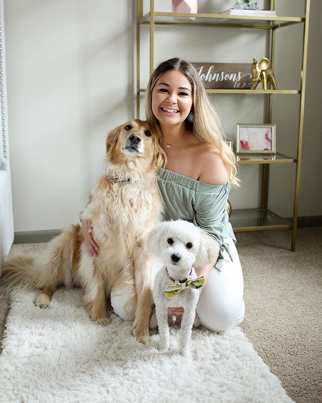 """My dogs are with me 24/7 and have changed my life for the better. They are my best friends, my confidants, and my babies. I am so lucky to be in their presence.""-Sydney. Click the link in our bio to read about this stay at home dog mom & her fur-babies 💗"